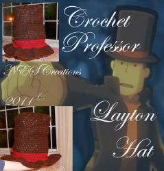 Crochet Professor Layton Hat by Zero23