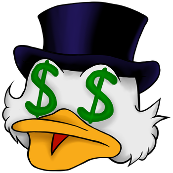 Emote: Dollar eye Scrooge McDuck by AlternativeEnd