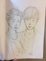 Jimin And Jinnie  by pinkielora
