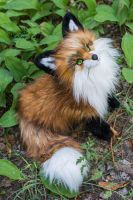 Poseable toy commission : red fox by MalinaToys