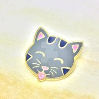 Cat blep pin! by theevergreenburrow