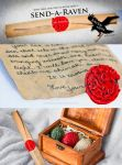 Send-A-Raven with RavenMail Handwritten Scrolls by 3direwolfmoon