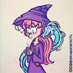 Witch and Pet by Number9Robotic