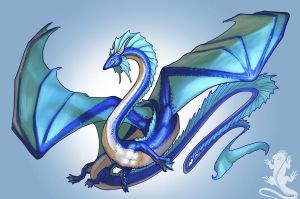 Water Dragoness by KaiserFlames
