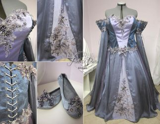 Lavender Wedding Dress by Firefly-Path