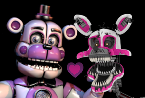 Funtime Freddy x Nightmare mangle by AgentPrime