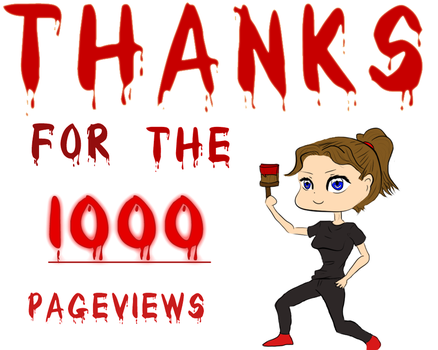 thank you for the 1000 pagevie by Hachi16
