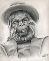 Maurice Evans - Dr. Zaius by Marker-Mistress