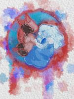 Yin and Yang by the-Orion-nebula