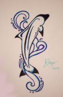 Mom's Dolphin Tattoo 2 by RuneElf