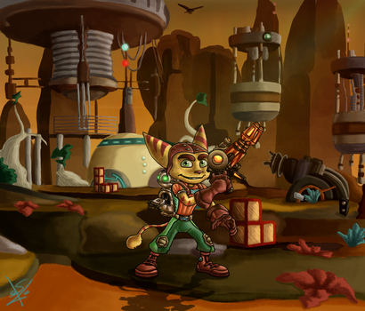 Ratchet and Clank - Veldin by SEBASTIEN11