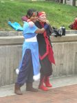Otakon 2012 - Aang and Katara by mugiwaraJM