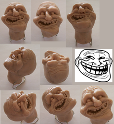 Troll Face Sculpture by elektrolikit