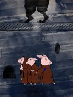 The Goosemother Scroll: Three Little Pigs by katytowell