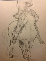 Unknown Knight with Horse by realTIMematrix
