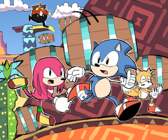 SONIC MANIA: MIRAGE SALOON ZONE by RamyunKing