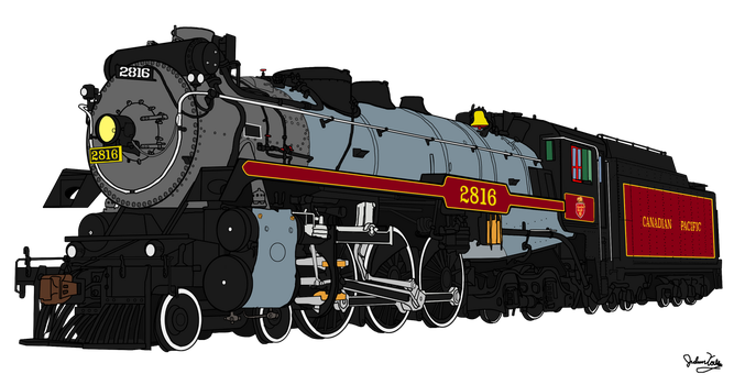 Canadian Pacific 2816 by RailToonBronyfan3751