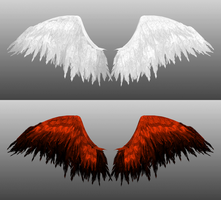 Angel and Phoenix Wings DL by SirKnightThomas