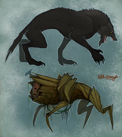 Lycan and Caudecus by Serpentwined