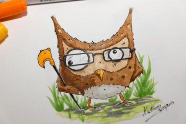 Hibou by Mister-Frog