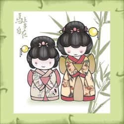 little japanese dolls... by hara19