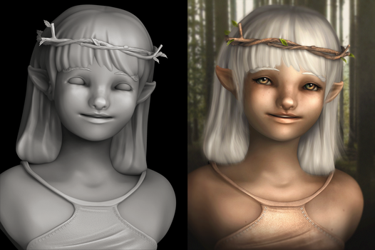 Zbrush and Photoshop : Little Elf by ohmai-faise