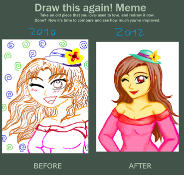 Before after meme - My first Tegaki by XxRixX