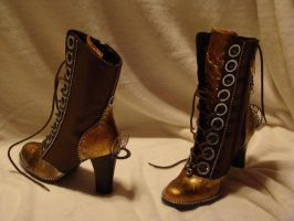 steampunk boots by Dana by brucethelesser