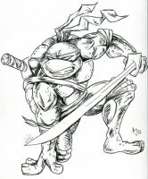 TMNT: Leonardo Sketch by AtlantaJones