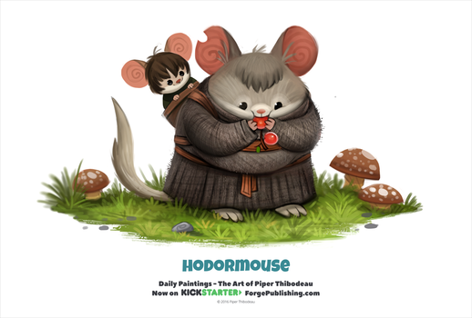 Daily 1329. Hodormouse by Cryptid-Creations