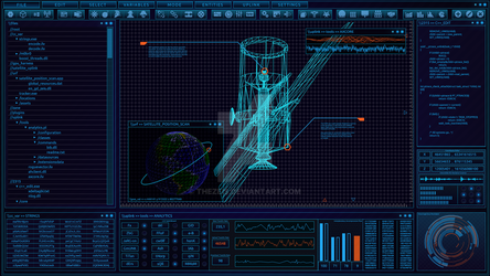 [WIP] Blue Satellite FUI by TheZeis
