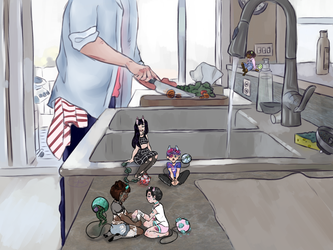 A Friendly Visit (Botanical Intro Contest Entry) by Sylociraptor