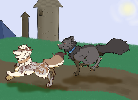 [FiP] Awesome Obstacles with a Wolf! by pandelirious