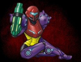 Samus Aran in Gravity Suit by ElectricGecko