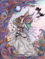 Of Painted Flowers, Fairytales and Dreams by La-Chapeliere-Folle