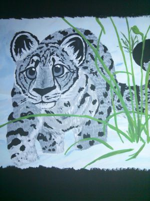 Snow Leopard - Acrylic Painting by Misswd