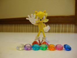 Super Sonic with Emeralds by 6SeaCat9