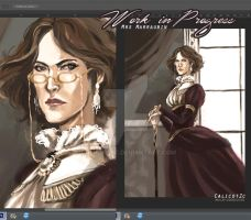 Mrs M. Project ~ WORK IN PROGRESS // The Portrait by Calicot-ZC