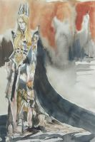 Sauron in long robe by Cassiuseos