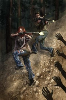 Shoot Dem' Zombies by munkierevolution