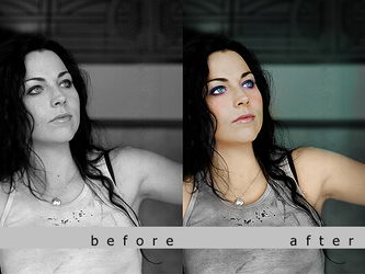 Colorization: Amy Lee by nathan7321
