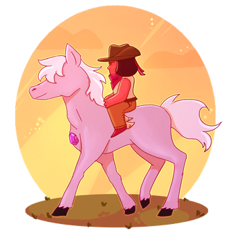 Ruby Rider by FeatherFrames