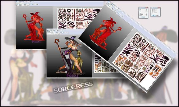 Sorceress (Dragon's crown) PAPERCRAFT by osvaldo1514