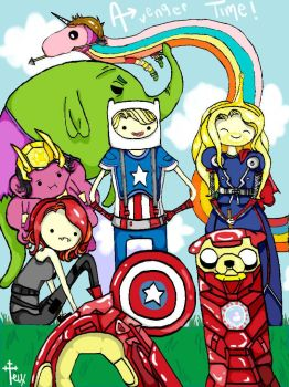 Avenger Time ~! by Petite-Gris