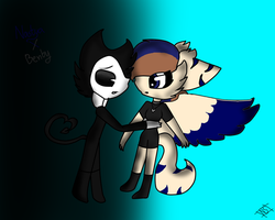 Old Art Nastya X Bendy by astya45