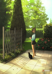The Neighborhood Cat by BloodlineV