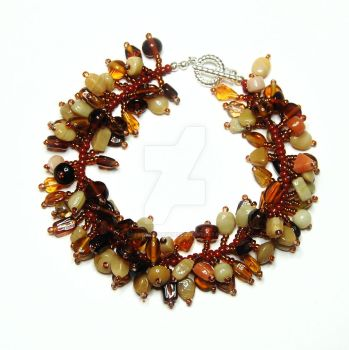 Brown Fringe Bracelet by crystalstargems