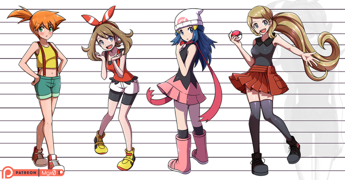 Poke Poke girls by Mgx0
