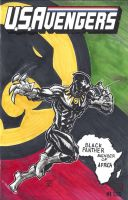 USAvengers Sketch Cover, Black Panther by WEXAL