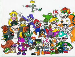 My characters as mario things by Hyliaman